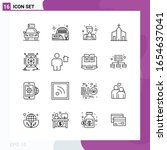line icon set. pack of 16... | Shutterstock .eps vector #1654637041