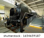 KYOTO, JAPAN, MAY 02, 2017: C62 26 at the Osaka Transportation Museum (Kyoto Railway Museum). Class C62's were Hudsons (4-6-4) built for passenger service using the boilers from freight locomotives. - stock photo