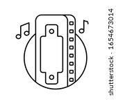 harmonica in circle icon....