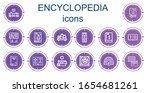editable 14 encyclopedia icons...   Shutterstock .eps vector #1654681261