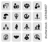 icon set in black with a square ... | Shutterstock .eps vector #165468407