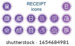 editable 14 receipt icons for...   Shutterstock .eps vector #1654684981