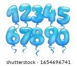 3d realistic letter balloons... | Shutterstock .eps vector #1654696741