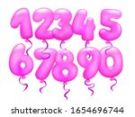 3d realistic pink letter... | Shutterstock .eps vector #1654696744