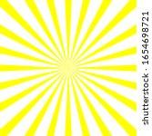 yellow   white sunburst... | Shutterstock .eps vector #1654698721