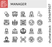 manager icon set. collection of ... | Shutterstock .eps vector #1654699507