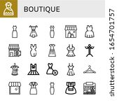 set of boutique icons. such as... | Shutterstock .eps vector #1654701757