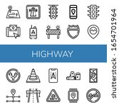 set of highway icons. such as...   Shutterstock .eps vector #1654701964
