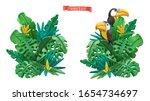 tropical leaves design.... | Shutterstock .eps vector #1654734697