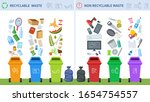 waste recycling. trash recycle... | Shutterstock .eps vector #1654754557