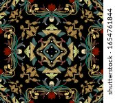 embroidery baroque vector... | Shutterstock .eps vector #1654761844