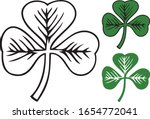 clover with three leafs  ...   Shutterstock .eps vector #1654772041