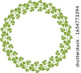 wreath of clover with three...   Shutterstock .eps vector #1654773394