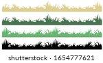 set green and black grass... | Shutterstock .eps vector #1654777621