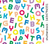colorful seamless alphabet... | Shutterstock .eps vector #1654796551