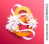 march 8 international women's... | Shutterstock .eps vector #1654800421