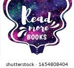 read more books motivation... | Shutterstock .eps vector #1654808404