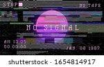 tv screen with vhs flicker... | Shutterstock .eps vector #1654814917
