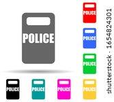 police shield multi color style ...