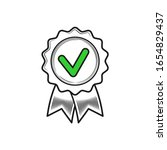 approved seal or stamp and... | Shutterstock .eps vector #1654829437