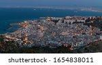 Algiers cityscape at night, Algiers skyline