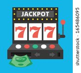 vector slot machine icon | Shutterstock .eps vector #165486095