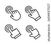 hand click vector icon. set of... | Shutterstock .eps vector #1654937527