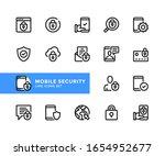 mobile security vector line...   Shutterstock .eps vector #1654952677
