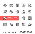 credit and loan vector line... | Shutterstock .eps vector #1654953961