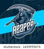 reaper mascot esport logo design   Shutterstock .eps vector #1654955674