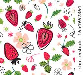 summer seamless pattern with...   Shutterstock .eps vector #1654962364
