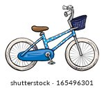 Blue Bicycle  Vector...