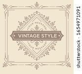 vintage ornament greeting card... | Shutterstock .eps vector #1654971091