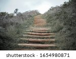 Blurry Wooden Staircase Goes T...
