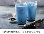 Butterfly Pea Milk Bubble Tea...