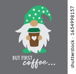 vector illustration of a gnome... | Shutterstock .eps vector #1654998157