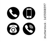 phone icon vector. set of flat...