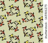 seamless wallpaper carp koi.... | Shutterstock .eps vector #165501275