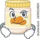 cool almond butter mascot... | Shutterstock .eps vector #1655014804