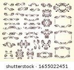elegant flourish elements of... | Shutterstock .eps vector #1655022451