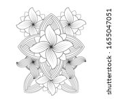 coloring page. hand drawn... | Shutterstock .eps vector #1655047051