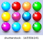 set of colored spheres  | Shutterstock .eps vector #165506141