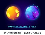 fantasy space planets for ui...