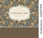 Classical Vector Vintage Card....