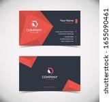 modern geometric business card... | Shutterstock .eps vector #1655090461