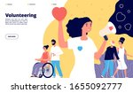 volunteering page. charity... | Shutterstock .eps vector #1655092777