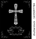 black and white catholic... | Shutterstock . vector #1655097784