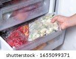 Freezer And Frozen Vegetables ...