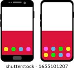 two black smartphones with a... | Shutterstock .eps vector #1655101207
