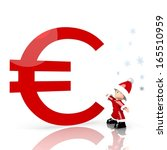 a tiny santa claus boy standing ... | Shutterstock . vector #165510959